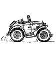 vintage convertible vector image