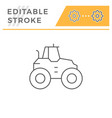 agricultural tractor line icon vector image