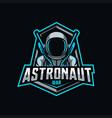 astronaut mascot logo esport vector image vector image