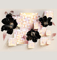 background with mallow vector image vector image