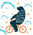 Bear With Quote vector image