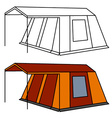 big old family camping tent vector image vector image