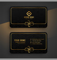 black dark and golden business card template vector image vector image