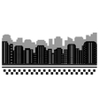 black urban background for taxi vector image vector image