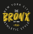 bronx new york vector image vector image