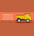 building truck banner horizontal concept vector image vector image