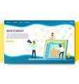 business investment landing page website vector image