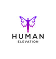 butterfly man sign vector image vector image