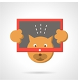 Cat with tablet flat color icon vector image vector image