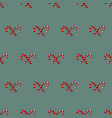 christmass patch logo gift mistletoe seamless vector image