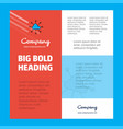 cloud network business company poster template vector image