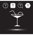 Cocktail logo vector image vector image