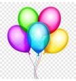 colorful balloons birthday decoration vector image