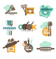 cooking school or classes isolated icons vector image