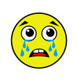 crying smiley on a white background vector image
