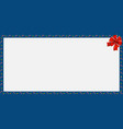 cute christmas or new year frame with candy cane vector image vector image