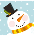 Cute happy snowman vector | Price: 1 Credit (USD $1)