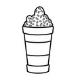 cute sweet milkshake icon vector image