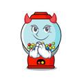 devil gumball machine mascot cartoon vector image vector image