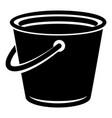 domestic bucket icon simple style vector image vector image