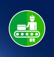 Engineering workshop Industrial operation icon vector image