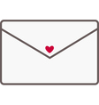 Envelope with a red heart vector image vector image