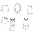 fashion clothing tshirt skirt shirt trousers vector image vector image
