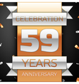 Fifty nine years anniversary celebration golden vector image vector image