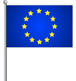 flag of european union with correct proportions vector image vector image