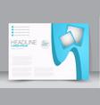 flyer brochure billboard template landscape vector image vector image
