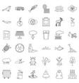 garbage icons set outline style vector image vector image