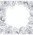 garden tender english roses frame vintage vector image vector image