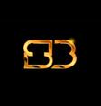 gold golden metal alphabet letter logo vector image
