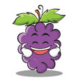 grinning grape character cartoon collection vector image vector image