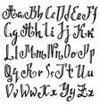grunge old pen gothic font blackletter script vector image vector image