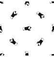 hamster pattern seamless black vector image vector image