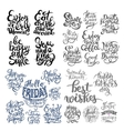 hand lettering inscription set motivation and vector image vector image