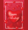 happy valentine day poster banner card template vector image vector image