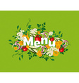 Healthy food menu vector image