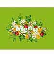 Healthy food menu vector image