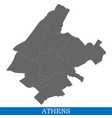 high quality map city of greece vector image