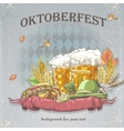 image of a celebratory background oktoberfest vector image