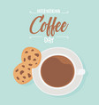 international day coffee top view cup vector image vector image