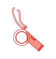 isolated training whistle vector image vector image
