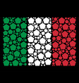 italian flag pattern of filled pentagon icons vector image vector image