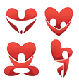 love and hearts symbols vector image vector image