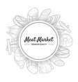 meat market premium quality banner template vector image vector image