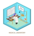 Medical laboratory scientist Isometric flat vector image vector image