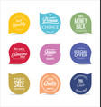modern badges and labels collection 1 vector image vector image