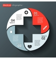 Modern template for your medical project vector image vector image
